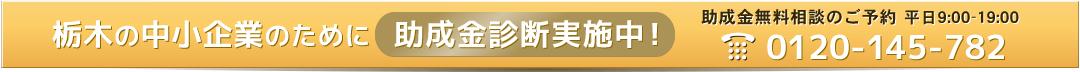 栃木の中小企業のために助成金診断実施中!0120-145-782